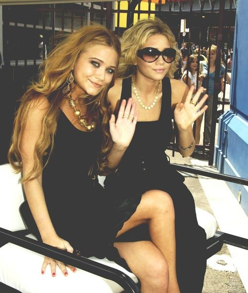 Olsen Twins. Loved them as a child, not sure how I feel about them now. But they are fashion freaks so i guess that's cool