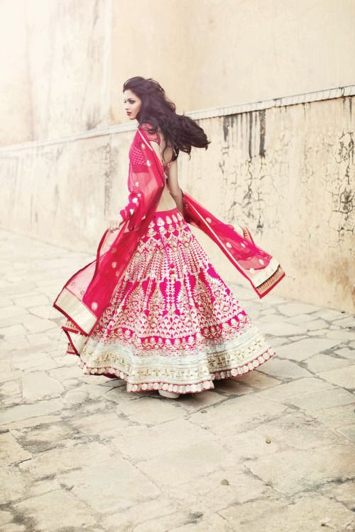 Beautiful magenta lengha choli - Anita Dongre
