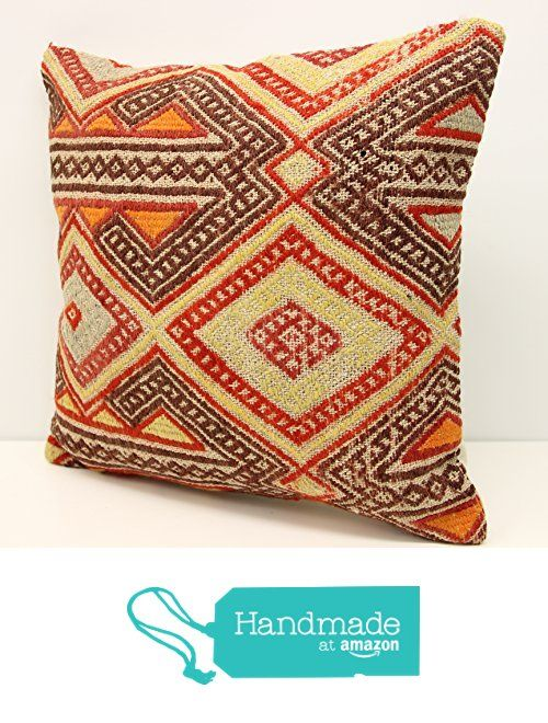 Kilim pillow cover handmade 18x18 inch (45x45 cm) Oriental Kilim pillow cover Home Decor Throw Pillow cover Accent Kilim Cushion Cover vintage from Kilimwarehouse https://www.amazon.com/dp/B075THQVMY/ref=hnd_sw_r_pi_dp_2LoXzb20RDA4S #handmadeatamazon
