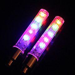 Pyöräilyvalot / pyörän valot / venttiilin suojus vilkkuvia valoja LED Pyöräily Lumenia Patteri Pyöräily-Valaistus
