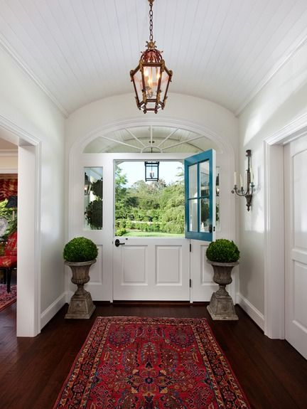 Dutch door: The Doors, Idea, Back Doors, Dutch Doors, Front Doors, Barns Doors, Homes, Oriental Rugs, Half Doors