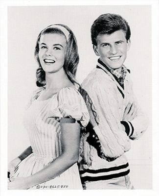 Teen idol, Bobby Rydel with Ann Magret (1959)