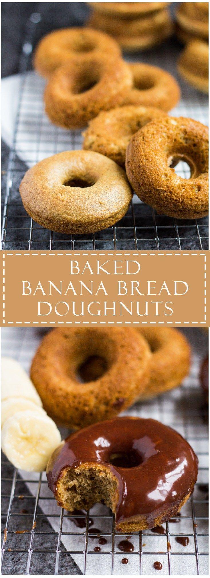 Baked Banana Bread Doughnuts with Milk Chocolate Glaze | Marsha's Baking Addiction #SoFabFood