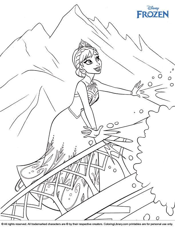 Elsa Singing Frozen Coloring Page Frozen Coloring Frozen Coloring Sheets Cool Coloring Pages