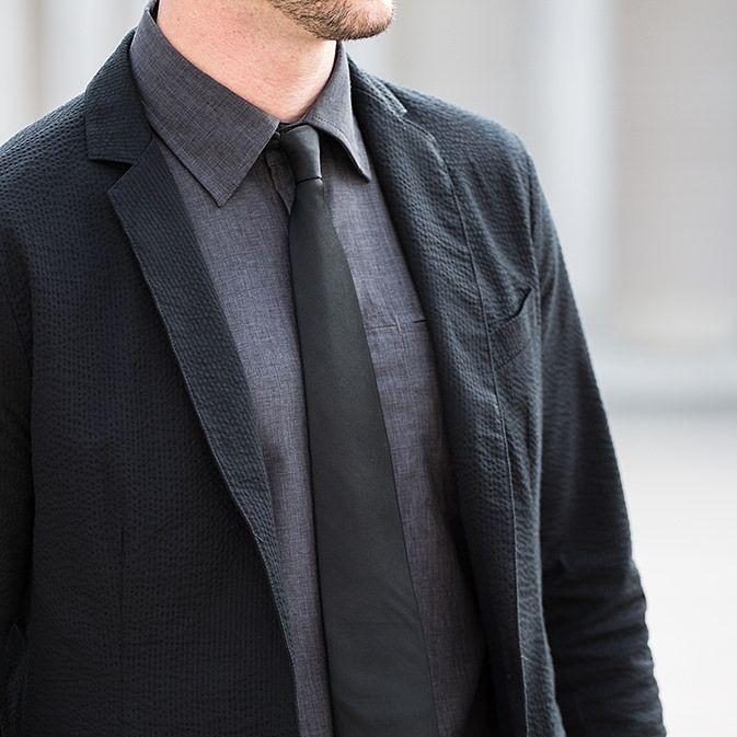 Black Seersucker Blazer