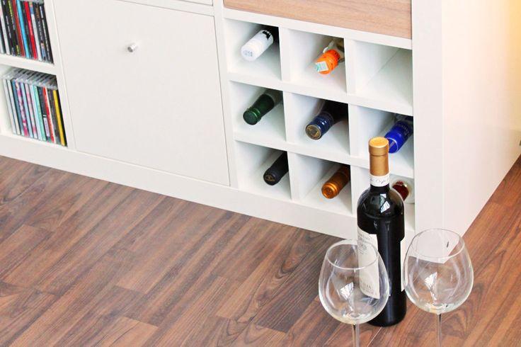 Regaleinsatz für das Expedit Regal von Ikea für Flaschen (ideal für die Weinlagerung)