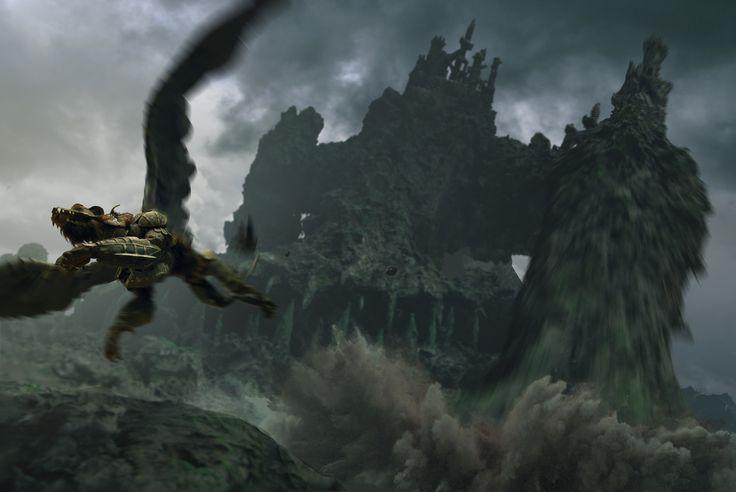 #concept #stonegiant #flying #escape #fantasyart
