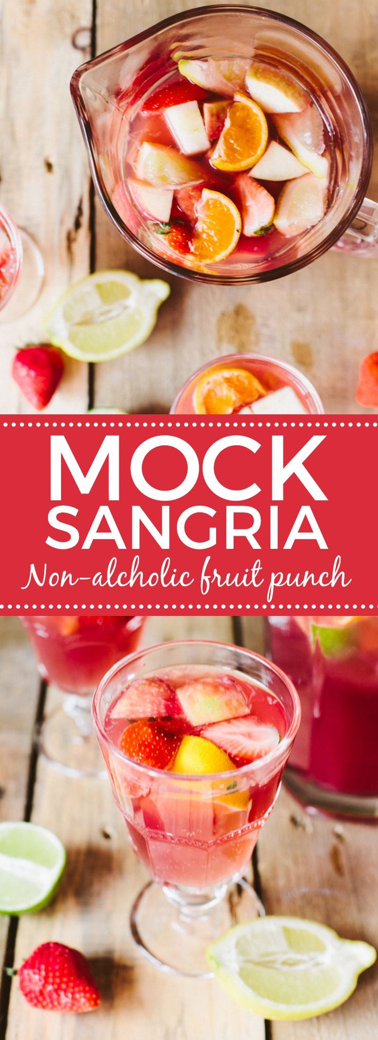 Mock Sangria! A non-alcoholic fruit punch
