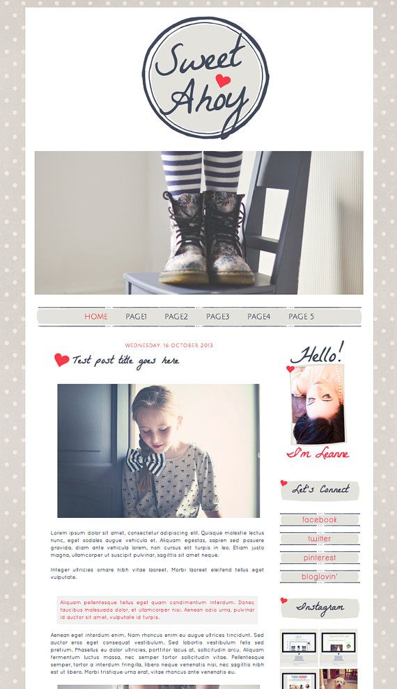 10 best blog templates images on pinterest templates blogger love this but not with navy and red for bella bloom pronofoot35fo Images