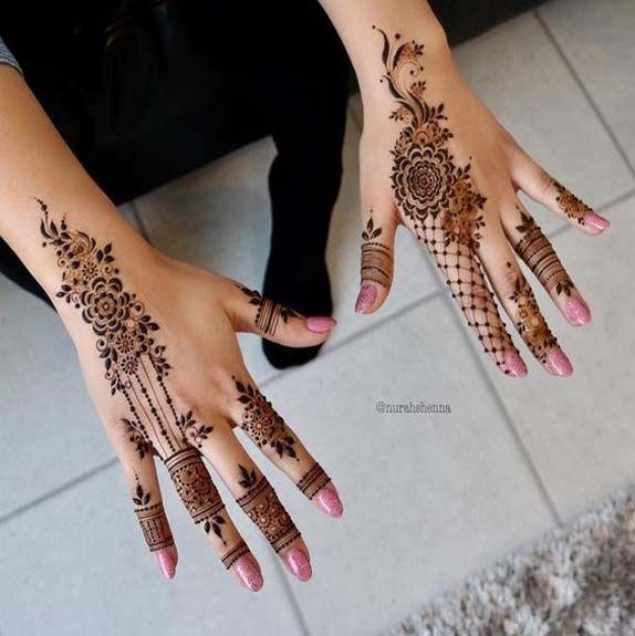 Arabic Henna Design For Trendy Girls