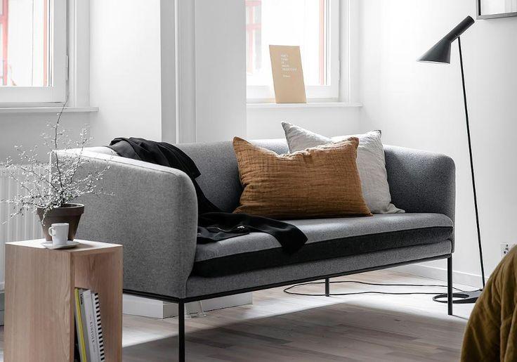 Cognac en grijs zijn een perfecte match | Interior Design ...