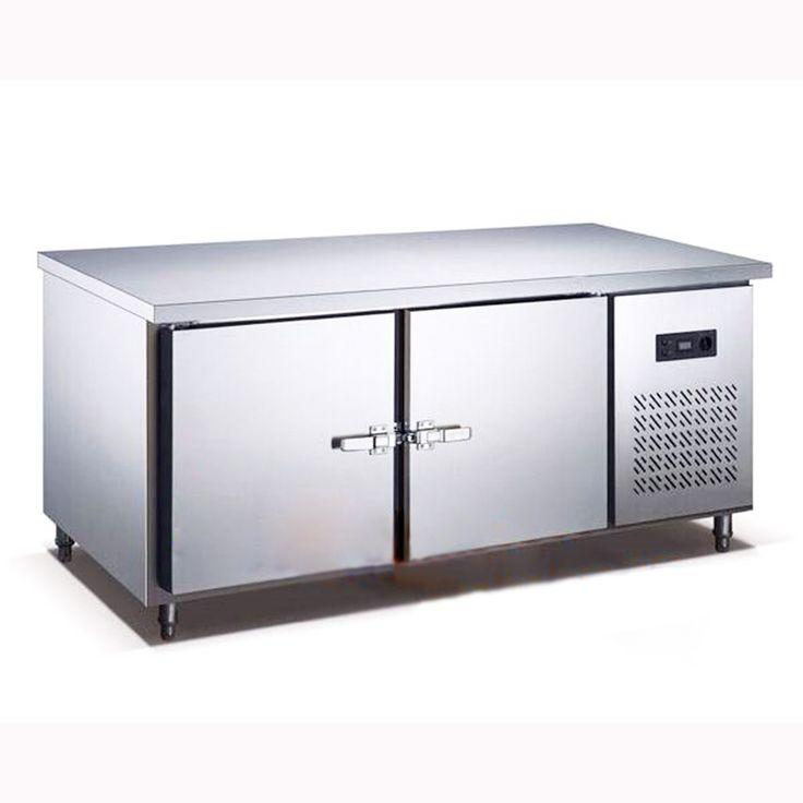 250L Cocina Plan de Trabajo de Acero Inoxidable Debajo del Mostrador Frigorífico Armario Frigorífico Congelador Comercial 1.5 M Leng