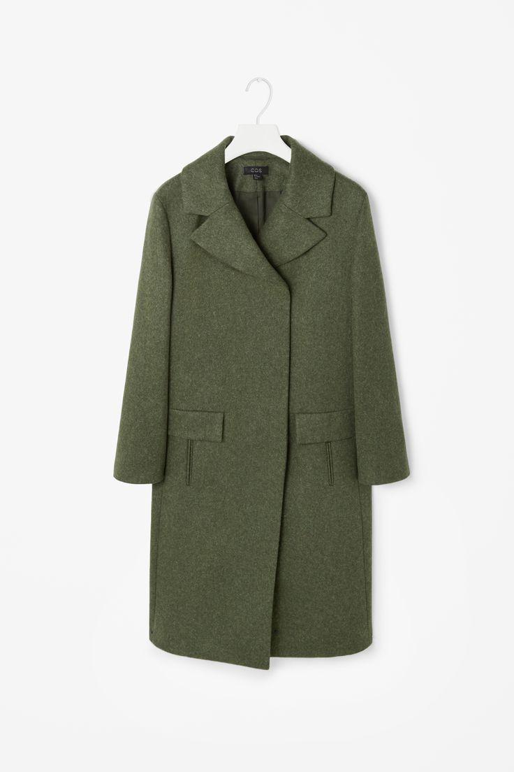 Wide collar wool coat cos