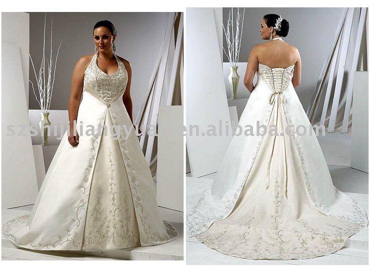 Branco tamanho grande casamento elegante vestido sj0724 - portuguese.alibaba.com