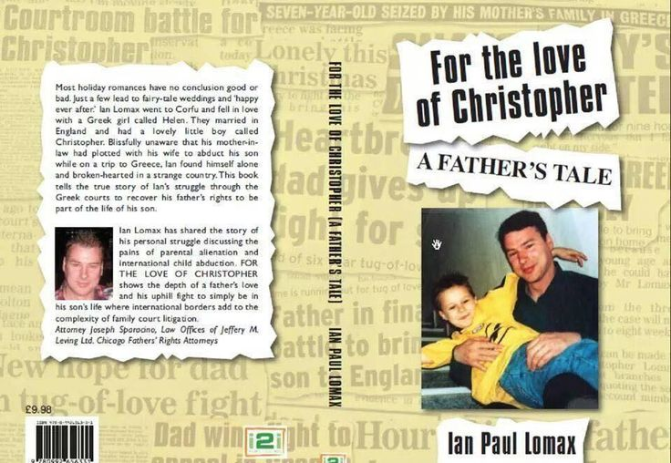 For the love of Christopher a true story of love and betrayal and the abduction of a 7 year old boy on a family holiday in Greece  Available on Amazon and Google play store