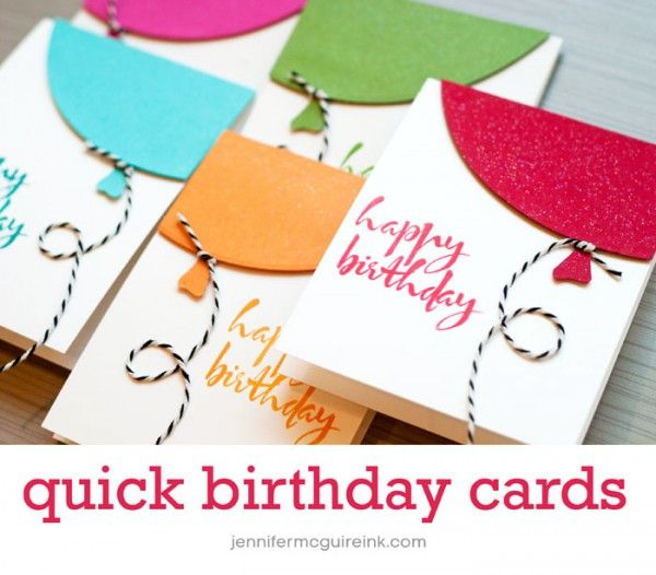 Quick Birthday Balloon Card Video by Jennifer McGuire Ink