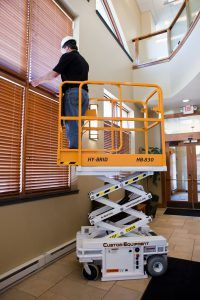 The Case Against Ladders and Scaffolds Low-level Lifts Prove Beyond a Reasonable Doubt Safer, More Efficient… #heavyequipment #construction