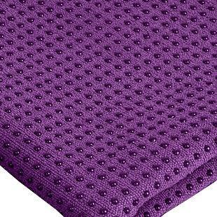 Yoga Mat Towel Non-slid Skid Resistance Thicken Widen Anti-slip Injury Free Mat-sized Super Absorbent Fitness Exercise Travel Towels Hot Yoga Bikram Yoga Blanket Carpet (Purple(spot))