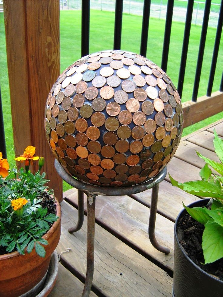 A Penny Ball for your garden or anywhere!