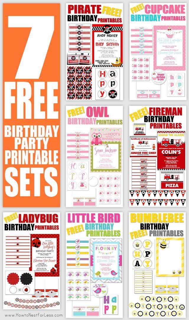 FREE Birthday Party Printables!