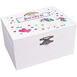 Unicorn Ballerina Personalized Musical Jewelry Box