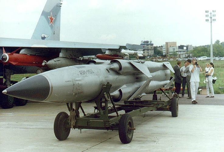"""P-270 Moskit is a Russian supersonic ramjet powered cruise missile. Its GRAU designation is 3M80, and its NATO reporting name is SS-N-22 Sunburn. The missile system was designed by the Raduga Design Bureau during the 1970s as a follow up to the """"SS-N-9 Siren"""". The Moskit was originally designed to be ship-launched, but variants have been adapted to be launched from land (modified trucks), underwater (submarines) and air (reportedly the Sukhoi Su-33, a naval variant of the Sukhoi Su-27)"""