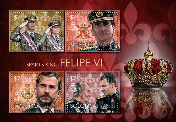 Post stamp Solomon Islands SLM 14509 a	King of Spain Felipe VI (Felipe VI, Juan Carlos I)
