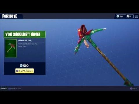 Fortnite You Shouldn T Have Christmas Gift Harvesting Tool Skin