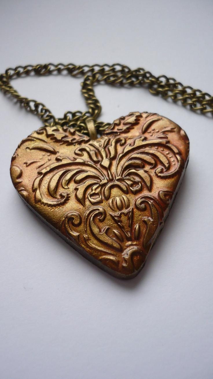 Polyclay, Poly clay, Fimo, Streampunk, Jewelry, Pendant, My Handmade  https://www.facebook.com/Dreamofladybutterfly?ref=hl