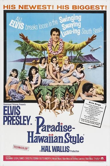 CAST: Elvis Presley, Suzanna Leigh, James Shigeta, Donna Butterworth, Irene Tsu, Julie Parrish, Philip Ahn, Mary Treen, Marianna Hill, John Doucette, Grady Sutton; DIRECTED BY: Michael Moore; WRITTEN