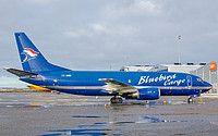 Bluebird Cargo Boeing 737-36E(BDSF) TF-BBG aircraft, parked at Finland Helsinki-Vantaa International Airport. 07/11/2012.