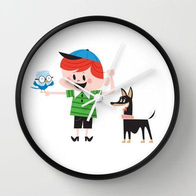 Best Friends - wall clock http://society6.com/inkrobin/Best-Friends-LZZ_Wall-Clock#33=284&34=285