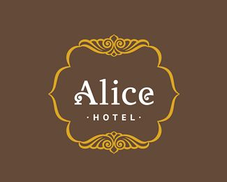 Alice Hotel Logo Design | More logos http://blog.logoswish.com/category/logo-inspiration-gallery/ #logo #design #inspiration
