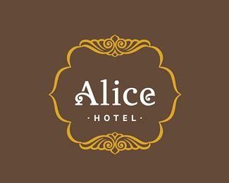 Alice Hotel Logo Design   More logos http://blog.logoswish.com/category/logo-inspiration-gallery/ #logo #design #inspiration