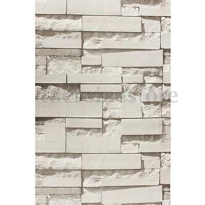 3D Steintapete Tapete Vlies Optik beige Steinoptik Einfach Wandbild 0.53 x 10 m