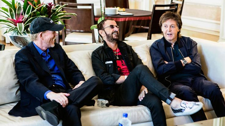 "Director Ron Howard chats with Ringo Starr and Paul McCartney about the new Beatles documentary, ""Eight Days a Week: the Touring Years,"" slated for release Sept. 16, 2016. Note: Beatlemania erupted globally in 1964."
