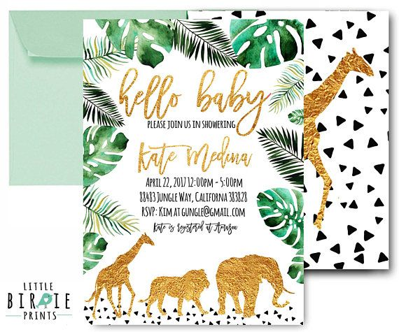 JUNGLE baby shower invitation WILD Animal baby shower invitation Lion Giraffe Elephant baby shower i