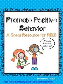 """This  positive behavior packet is a great resource to use with PBIS in the classroom. The kids will love to """"spy""""  the positive behavior of their classmates!"""