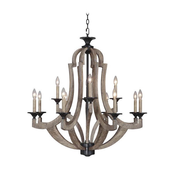 35129-WP | Jeremiah Lighting by Craftmade 35129-WP 9 LIGHT CHANDELIER in WEATHERED PINE - GoingLighting
