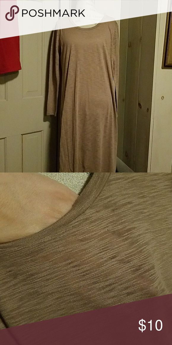 Sheer camel maxi dress Light weight and perfect for a cool spring/summer night.   Tag says small but I think it's in reference to the length because I'm definitely not a small woman haha  As pictured. Never worn. Color washes me out Dresses Maxi