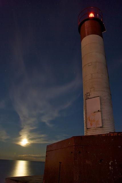 Oakville Lighthouse by moonlight