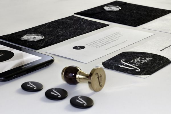 Trip in Fashion - Fashion Show Event Identity - Print design - invitations, envelopes with sealing wax, pins, stamp
