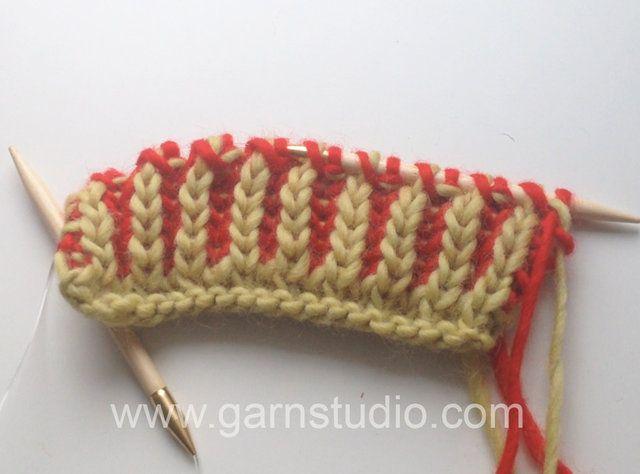 Canelado ou barra inglês tricotado com duas cores  DROPS patterns 149-43  and 151-24. Yo...