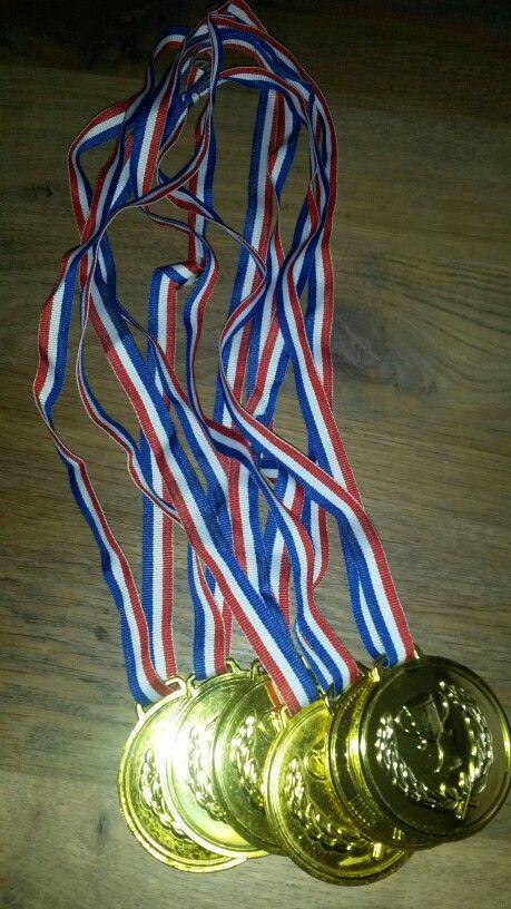 Na afloop krijgt iedereen een medaille, want er zijn alleen maar winnaars!