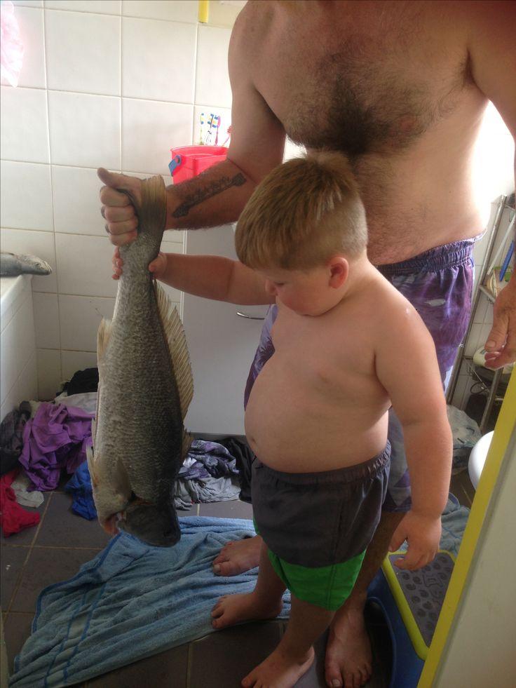 Fishy fun with daddy
