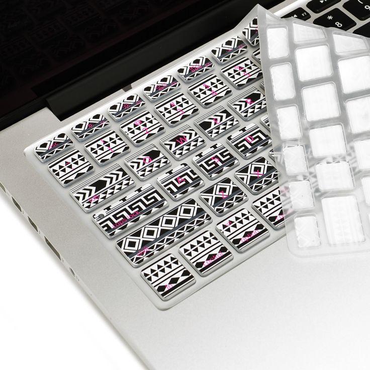 "Bohemian Black Ultra Thin Soft Silicone Keyboard Cover Skin for Macbook 13"" 15"" 17"""