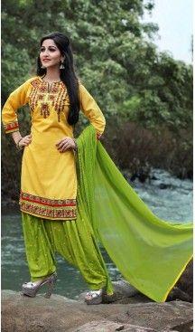 Yellow Color Cotton Straight Cut Punjabi Patiyala Suit | FH527679746 #punjabi , #patiyala, #shindhi, #suits, #narrow, #dresses, #salwar, #kameez, #straight, #long, #heenastyle, #indian, #online, #shopping, #clothing, #womens, #girls, #style, #mode, #henna, #hina, #mehendi, #dupatta, #chudidar, @heenastyle , #pakistani, #readymade