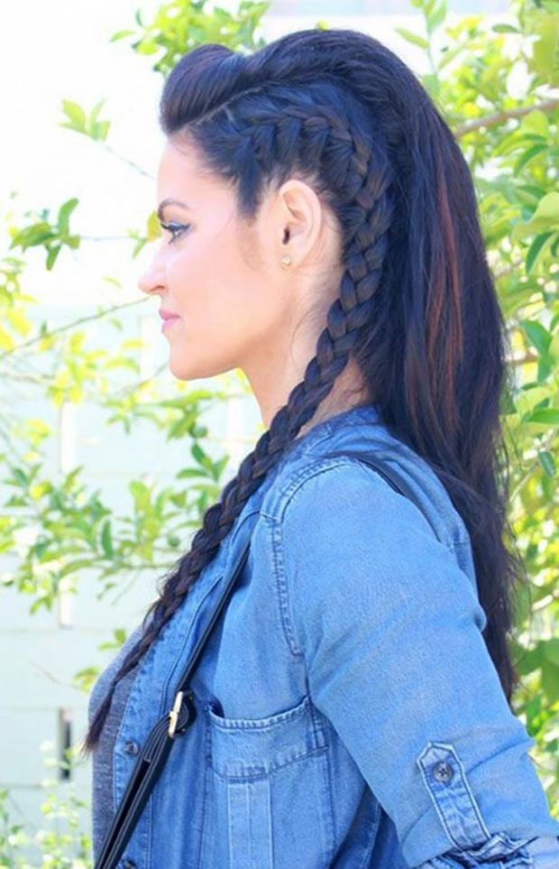 15 Killer Braided Hairstyles to Try for Coachella: Edgy French Braids
