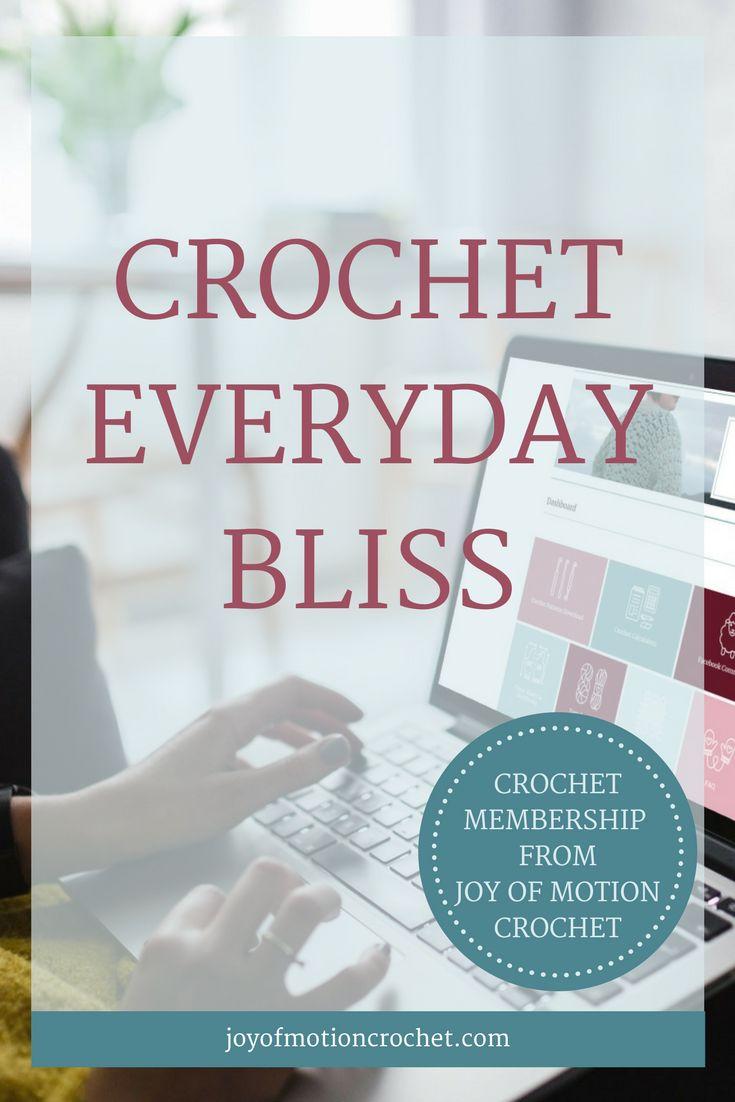 Crochet Everyday Bliss. Premium crochet membership. Crochet patterns included . Crochet Calculators, gauge calculator, yardage calculator, garment size calculator. Crochet Resources. Crochet community. #crochetpattern #crochet #crochetcommunity #crocheteveryday #crocheteverydaybliss via @http://pinterest.com/joyofmotion