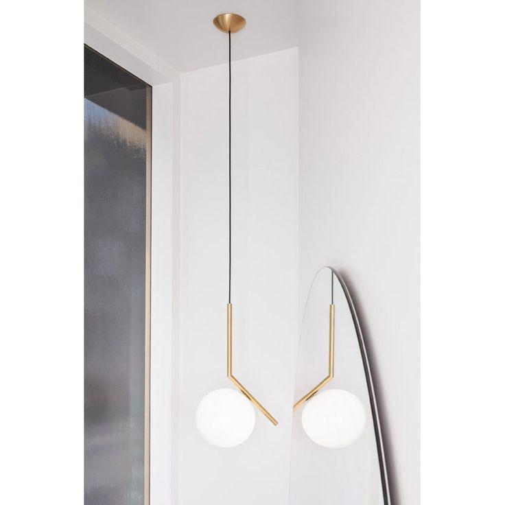 IC Lights spherical pendant lamp by Michael Anastassiades for FLOS modern lighting.